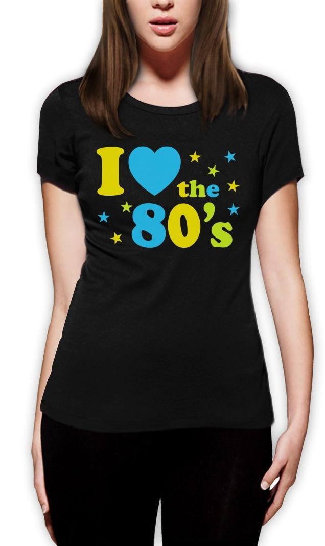 Womens I Love The 80/'s T-Shirt Halloween Costume