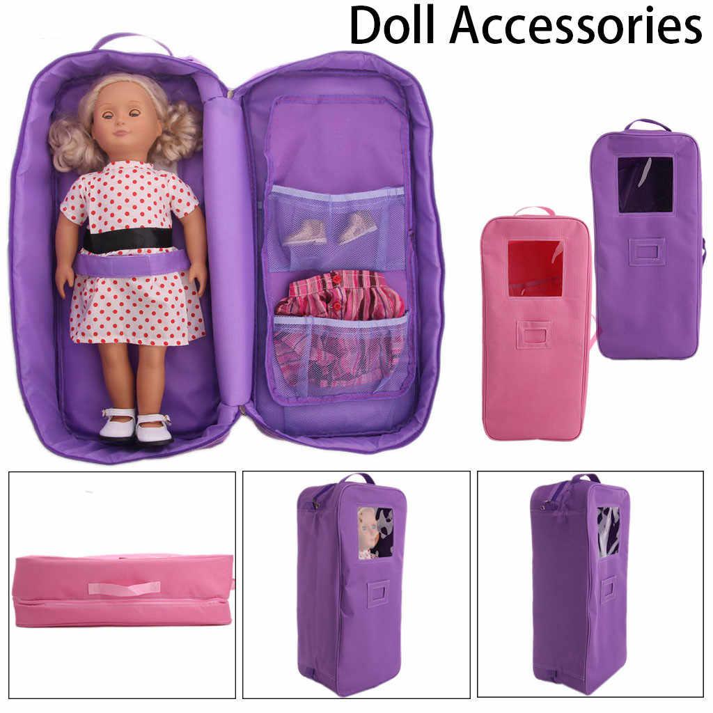 Аксессуары для куклы чехол для путешествий хранение чемоданов сумка аксессуары для детей игрушки повседневные Костюмы Кукла Сумка-переноска для 18-дюймовая кукла T9 #