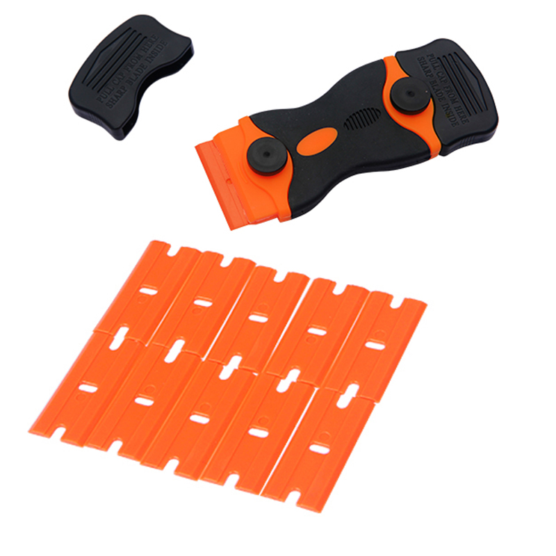 1Set  Phone LCD Glue Remover Scraper For Screen Window Paint Glass  Cleaning With 10pcs Plastic Blade