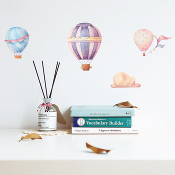Creative Colorful hot air balloon Wall Sticker for kids baby rooms decoration PVC Mural Decals nursery stickers home wallpaper cartoon rainbow cloud hot air balloon wall sticker for kids baby rooms decoration mural art decals home decor stickers wallpaper