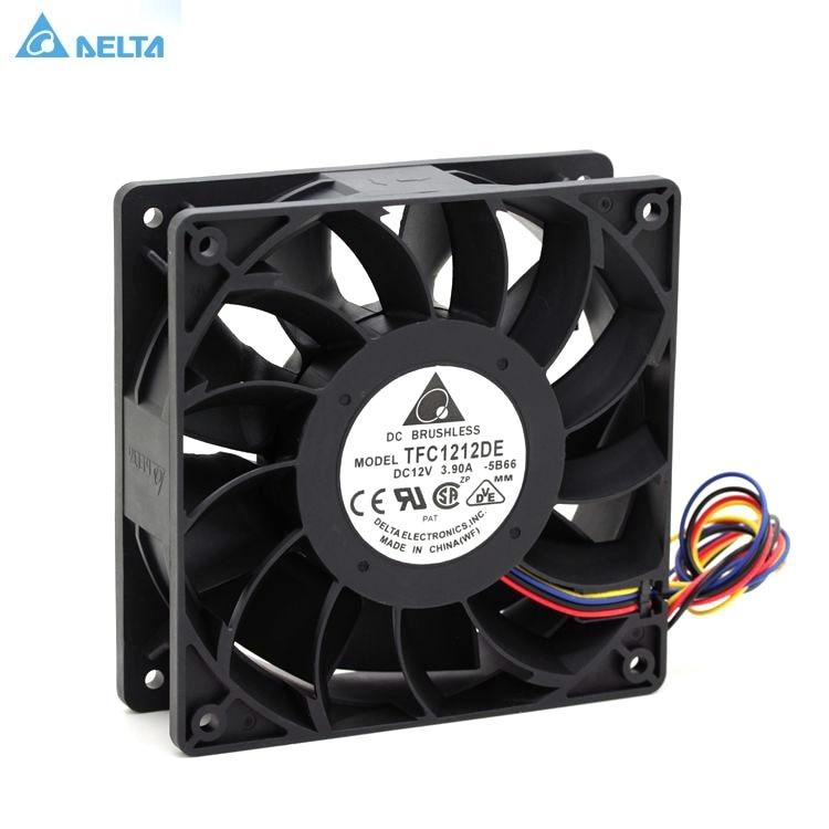 TFC1212DE Delta 120mm DC 12 V 12 V 5200 RPM 252CFM para Bitcoin minero poderoso servidor caso AXIAL ventilador de refrigeración