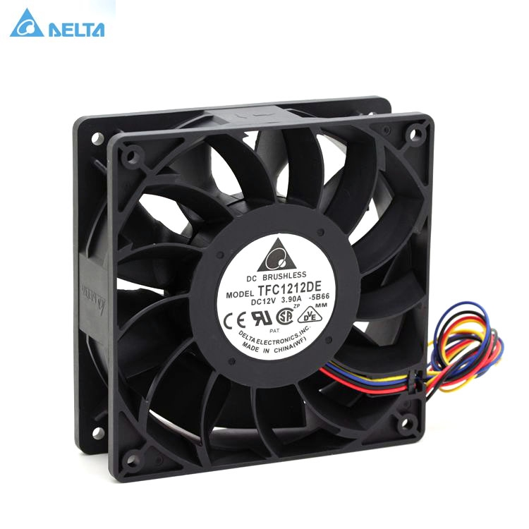 TFC1212DE For Delta 120mm DC 12V 5200RPM 252CFM For Bitcoin Miner Powerful Server Case AXIAL Cooling Fan