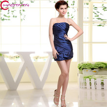 Bridesmaid Dress 2017 Cheap Royal Homecoming Empire Ladies Satin Above Knee, Mini Wedding Guest Gowns Party Dresses