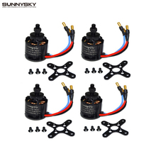 4pcs lot 100 Original Sunnysky X2212 980KV KV1400 1250 2450 180W Brushless Motor For Multirotor Quadcopter