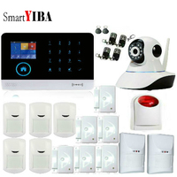 SmartYIBA Wireless Wifi GSM GPRS Rfid Home Security Alarm System Pet Immune Sensor WIFI IP Camera French Spanish Russian Polish
