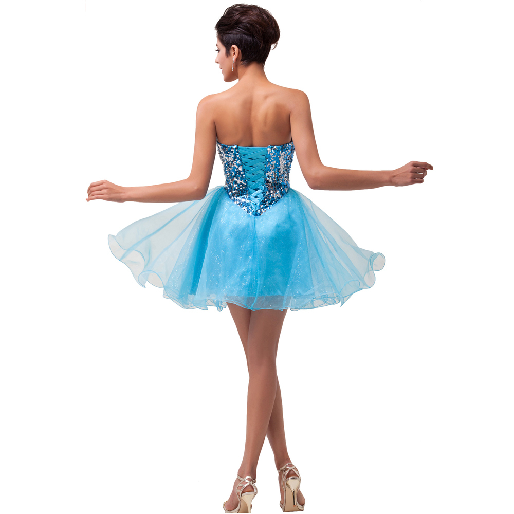Black/Blue Grace Karin 2015 Girls Mini Short Sequin Prom Homecoming ...