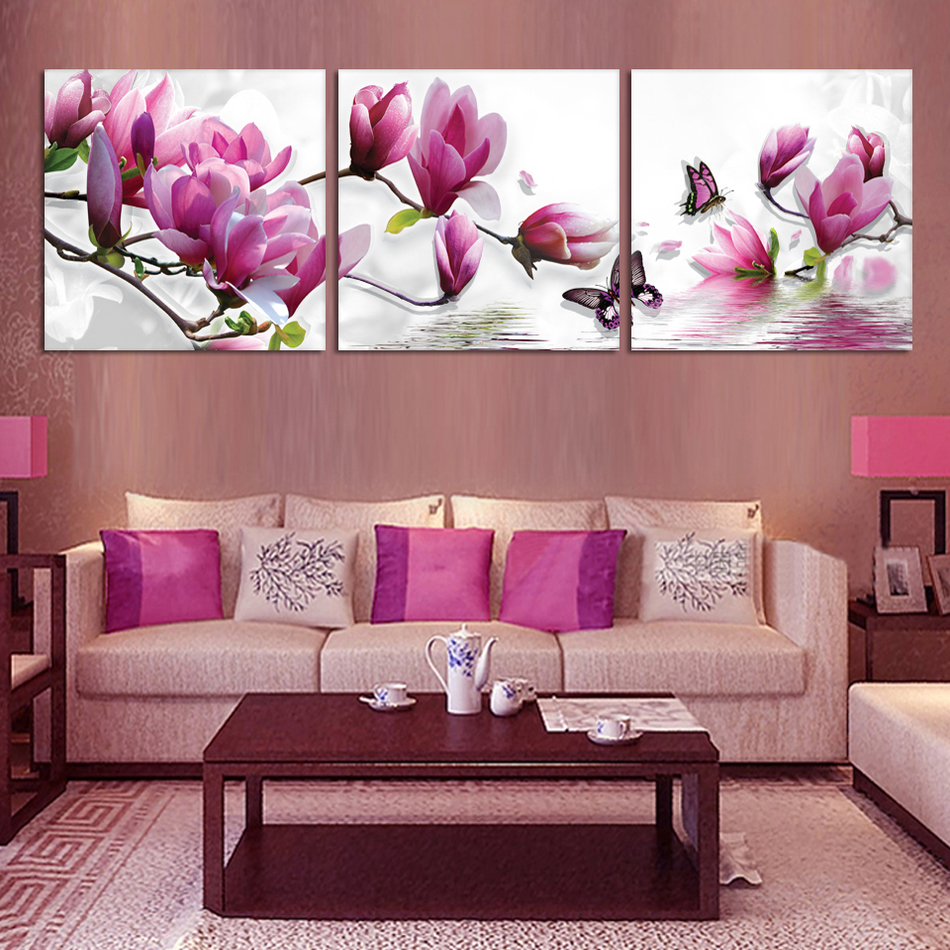 Aliexpress Buy Svity Nordic Pink Orchid Flower Painting Modern
