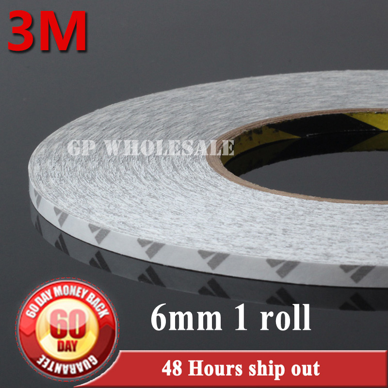 6mm(W)*50 Meters Hi-Temp 3M 9080 Double Sided Adhesive Tape For LED Strip LCD Case iPad PC Phone DVD Repair Free Shipping wholesale 5 rolls 9mm 50 meters translucent double sided adhesive tape for phone touch screen lcd led strip 3m 9080