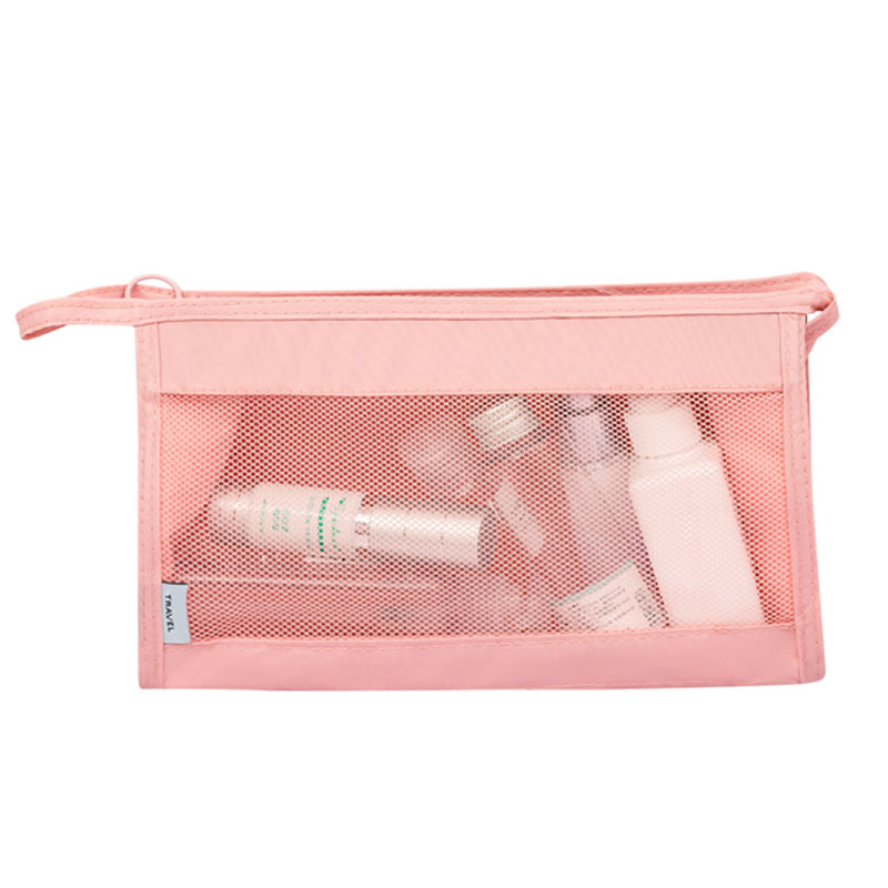 Square Mesh Oxford Fabric Waterproof Cosmetic Bag Wash Pouch Women's Men's Travel Necessary Stores Cosmetics Accessories Product solid color fashion cosmetic bag ladies portable travel necessary markup pouch storage beauty tools accessories supply products