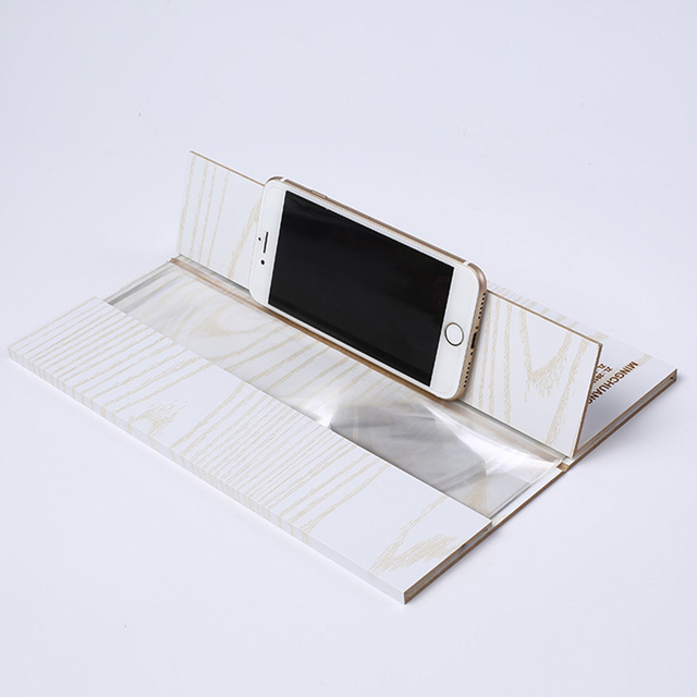 12 Inch Wood 3D HD Mobile Phone Screen Magnifier Screen Amplifier Holder Stand Video Folding Enlarged Expander Desktop Stands Mobile Phone Holders & Stands