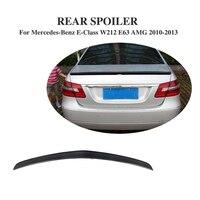 Alerón trasero de coche de fibra de carbono alerón para maletero alerón para Mercedes Benz Clase E W212 E63 AMG 2008-2013