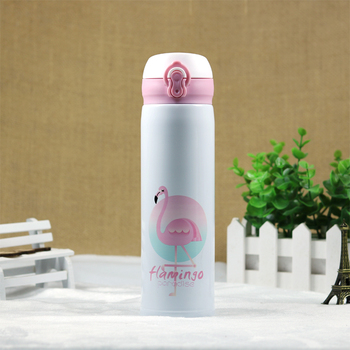 AIWILL Fashion Portable Stainless Steel Vacuum Flasks Cute student women thermos Coffee Tea Milk Travel Mug Thermo 400 Bottle