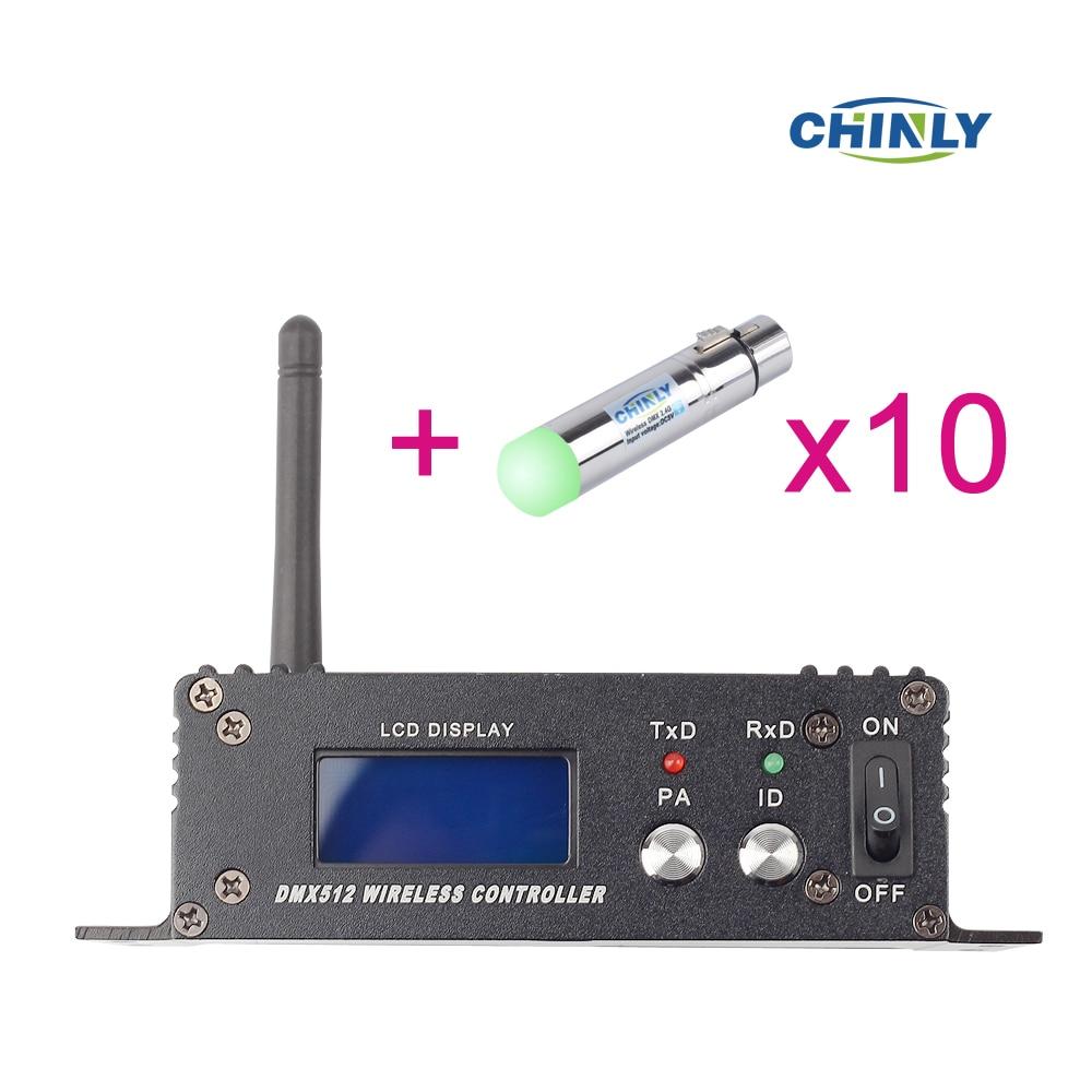 2.4G ISM DMX512 Sans Fil Femelle XLR Récepteur LED Éclairage Communication distance 400 M pour la Phase PAR Light Party