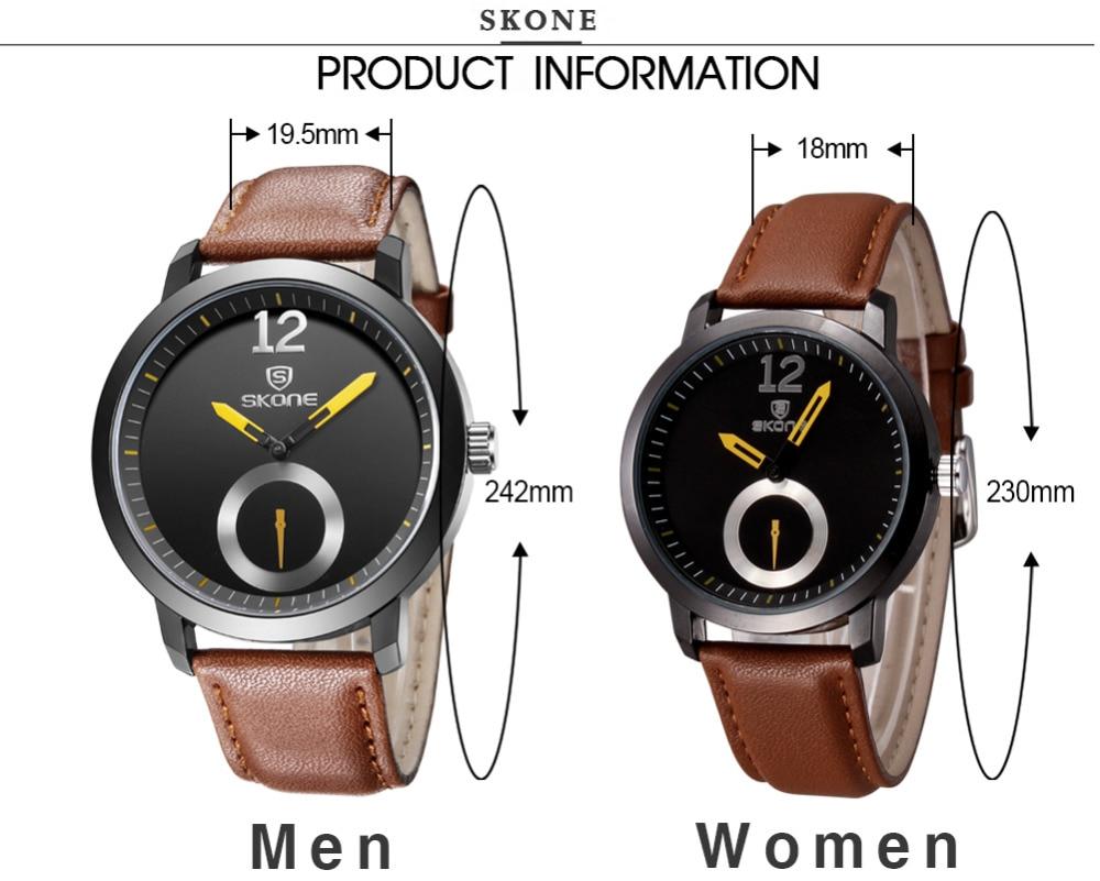 SKONE relojes hombres marca de lujo hombres reloj relogio relojes de - Relojes para hombres - foto 4