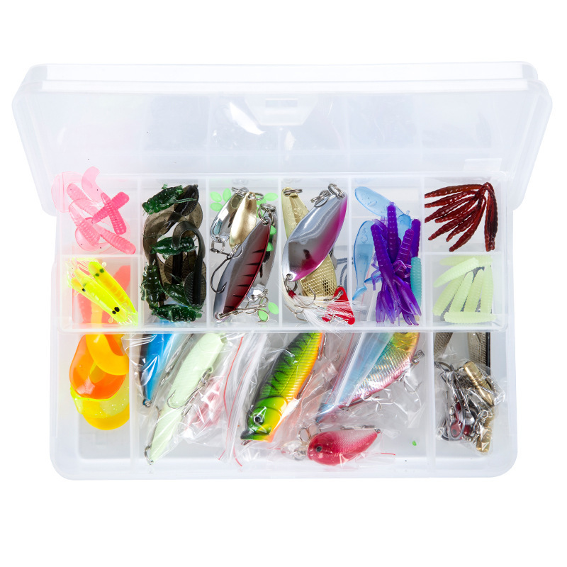 Mavllos 100PCS Fishing Wobblers Mixed Hard Soft Baits Popper Crankbait VIB Topwater Floating Fishing Lures Hooks Kit Set Box 10pcs 10cm plastic hard fishing lures saltwater fishing bass pike deep diver floating artificial fishing wobblers lure hooks