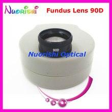 90DM Kadar Iyi Volk Lens! Oftalmik Asferik Fundus Yarık Lamba Kontak Cam Lens Sert Plastik Kutu Dolu Ücretsiz Kargo