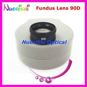 Image 1 - 90DM ほど良く volk レンズ! 眼科非球面眼底スリット ランプ連絡ガラス レンズ ハード プラスチック ケース詰め送料無料