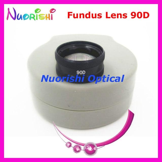 90DM ほど良く volk レンズ! 眼科非球面眼底スリット ランプ連絡ガラス レンズ ハード プラスチック ケース詰め送料無料