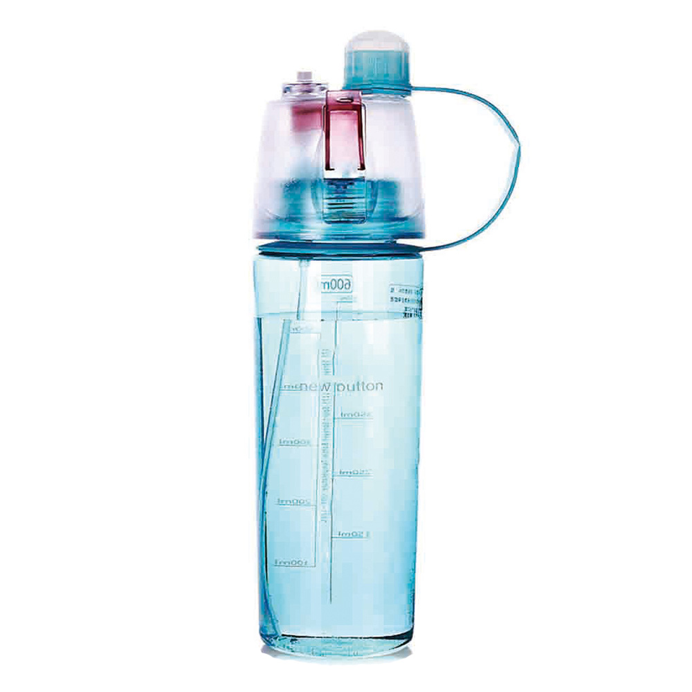 Portable Atomization Drinking Water Bottles Plastic Sports Spray Outdoor Cycling Water Bottles Creative Water Bottle 400/600ml