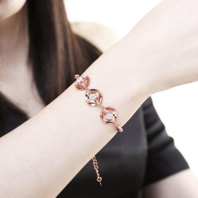 Купить женский браслет с цепочкой сияющий кубический циркон ювелирное