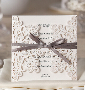 20pcs Wedding Party Invitation Card Decorative Cards Envelope Delicate Carved Pattern Invitations Supply