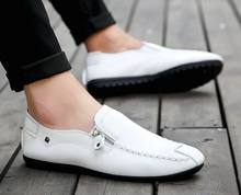 Fashion Driving Shoes Men Flats Slip On Loafers italian Flat Shoes Men Casual Shoes Zapatillas Hombre SIZE 39-44(China)