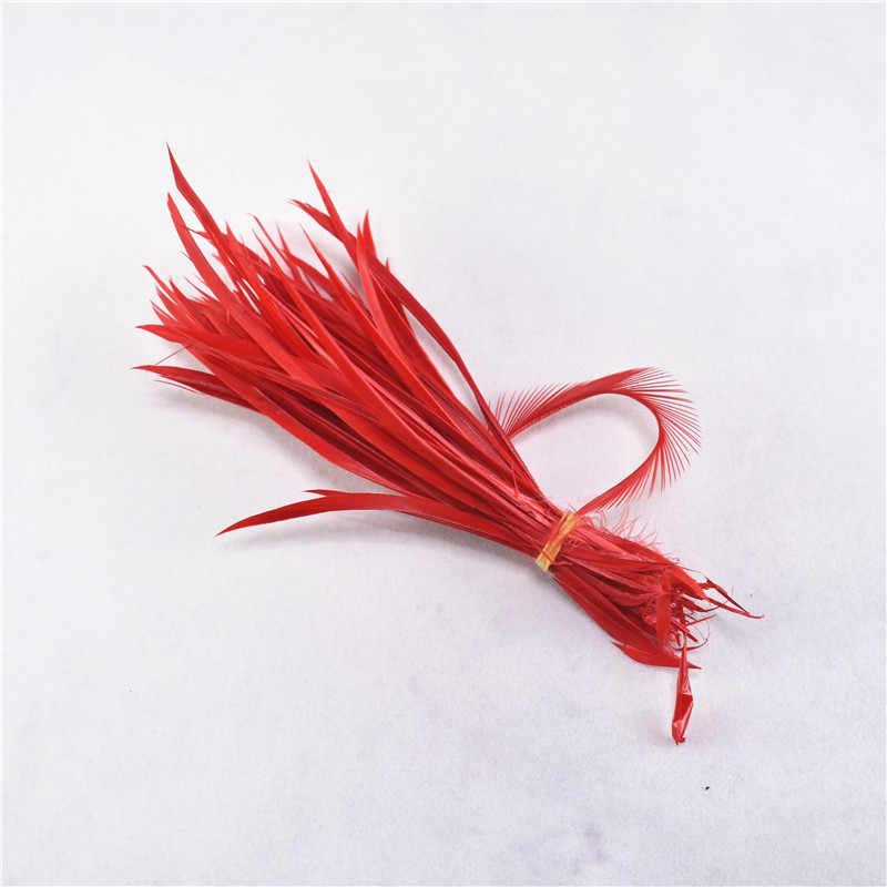 Wholesale20-100pcs/Lot 단일 색상 얇은 부드러운 터키 Marabou 깃털 씻어 거위 솜털 깃털 공예 웨딩 장식에 대 한