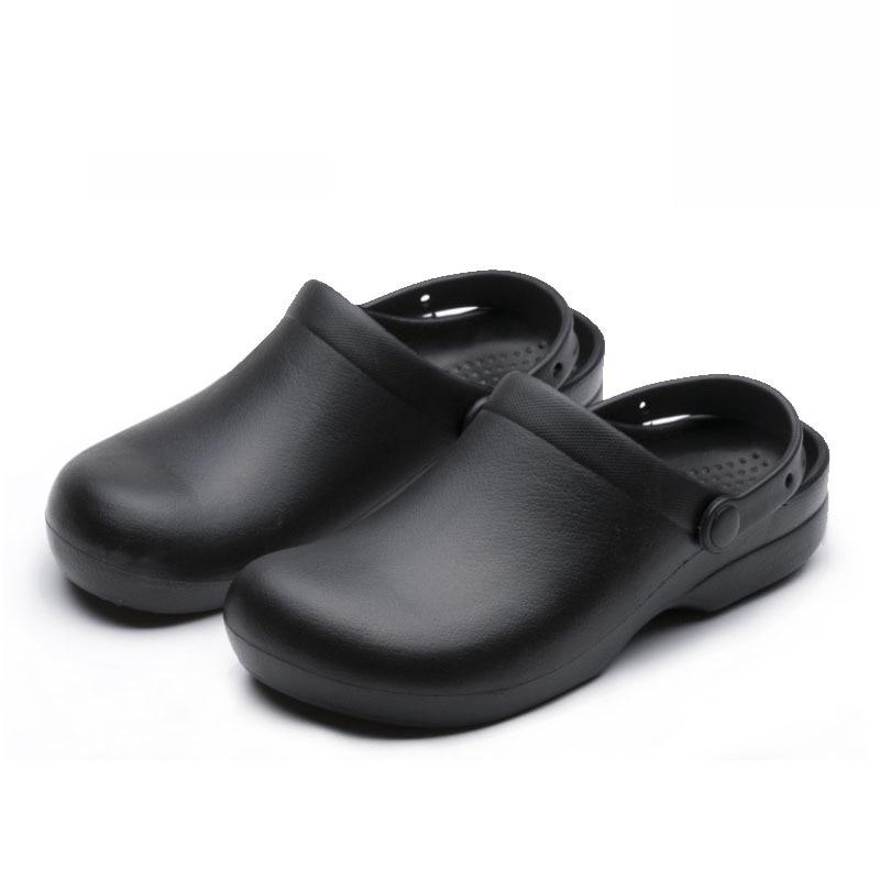 Wako Men Chef Shoes Black Non Slip Work Shoes Super Anti Slip Kitchen Sandals