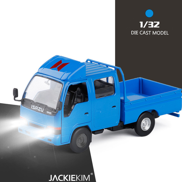 Simulasi Tinggi 1:32 Isazu Nhr Truk Pickup Kendaraan Teknik Logam Paduan Menarik Kembali Musik Flash Kendaraan Mainan Anak-anak Mainan Hadiah