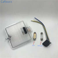 Cafoucs Car LED Dome Reading Light Lamp Interior Roof Lights For VW GOLF JETTA MK2 A2