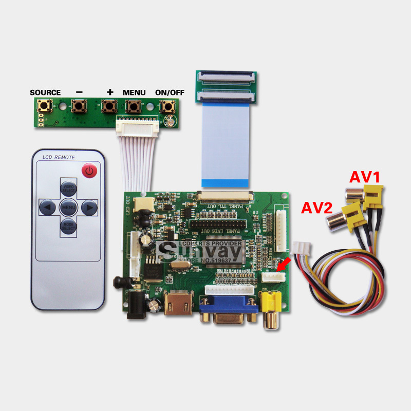 Hdmi Vga 2av Ttl Driver Board Tablet Pc Lcd Screen