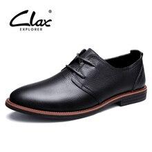 Clax оксфорды мужские натуральная кожа бренд Демисезонный мужские классические кожаные ботинки платье biritsh винтажные Ретро обуви элегантной обуви