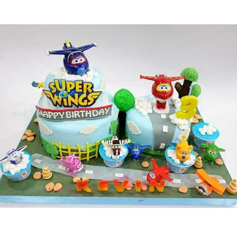 Incredible Super Wings Toys Cake Topper Wings Shape Cake Tool Birthday Birthday Cards Printable Trancafe Filternl