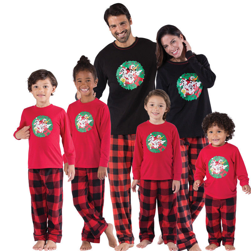 PUDCOCO Newest Family Matching Outfits Christmas Pajamas Set Baby ...