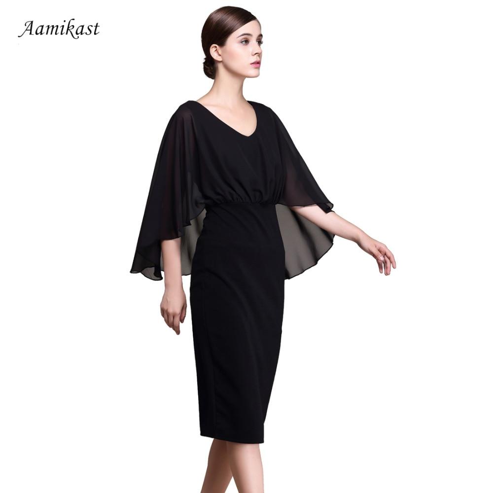 AAMIKAST Women Dresses Celeb New Fashion 2018 Elegant V neck Sexy Business  Dresses-in Dresses from Women s Clothing on Aliexpress.com  043e457e5cf6