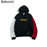 Bebovizi Autumn New Fashion Men S Fake Two Cotton Hooded Hoodies Male And Female Street Fashion