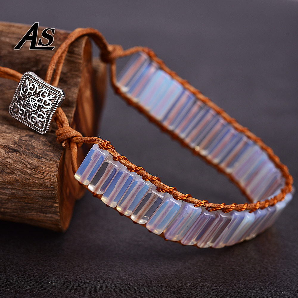 Asingeloowhite Opal Leather...