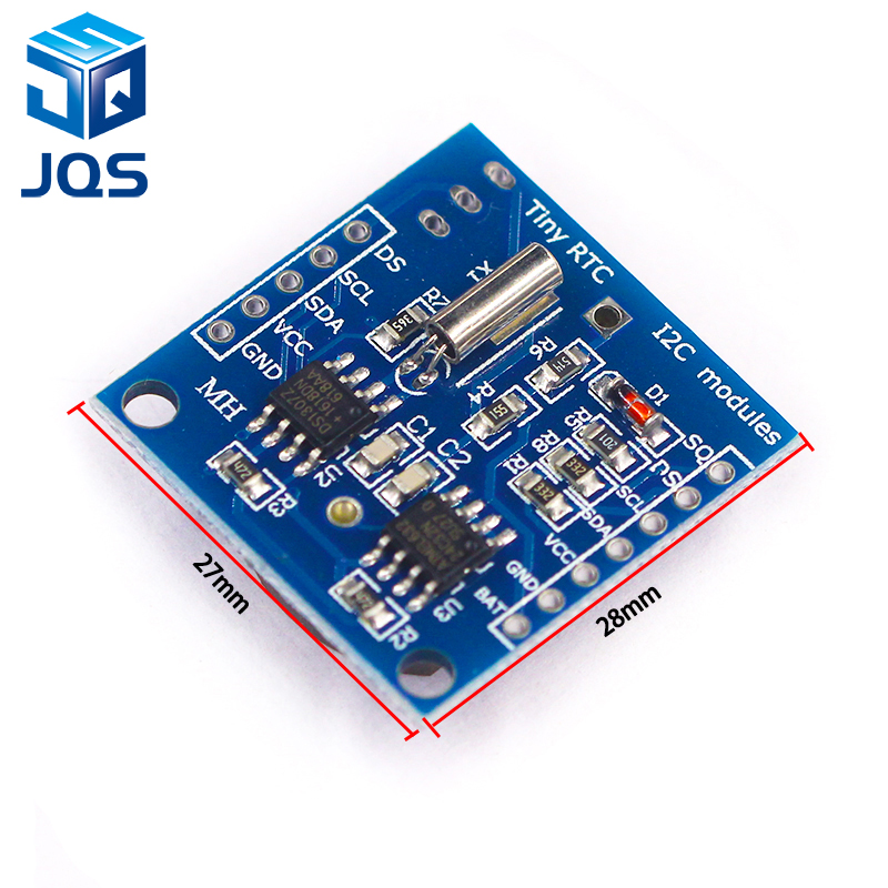 1PCS The Tiny RTC I2C Modules 24C32 Memory DS1307 Clock RTC Module For Arduino (without Battery)