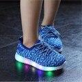 2 colores niñas niños casual shoes con led light up niños shoes sneakers transpirable niños led que brilla luminoso infant shoes nueva