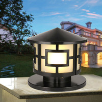 Circular lamp outdoor headlamp wall lamp landscape lamp villa courtyard waterproof European style lamp post retro LU808190