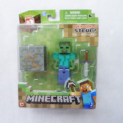 <font><b>Minecraft</b></font> Overworld <font><b>Zombie</b></font> Series 1 By Jazwares Toy & Games <font><b>Action</b></font> <font><b>Figure</b></font> New in Box