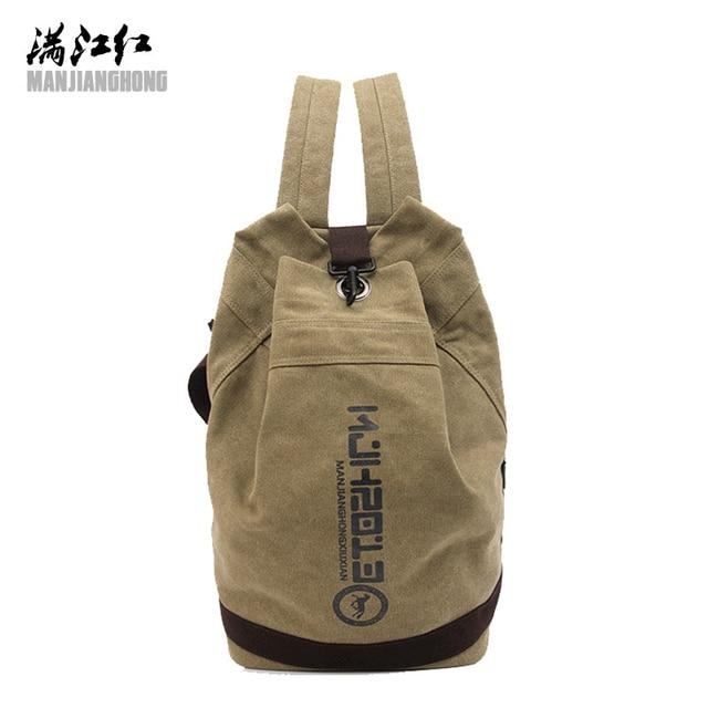 c285c1ae9245 MANJIANGHONG Brand Fashion men s school backpack Men Designer canvas travel  bag notebook Vintage large capacity Laptop backpack