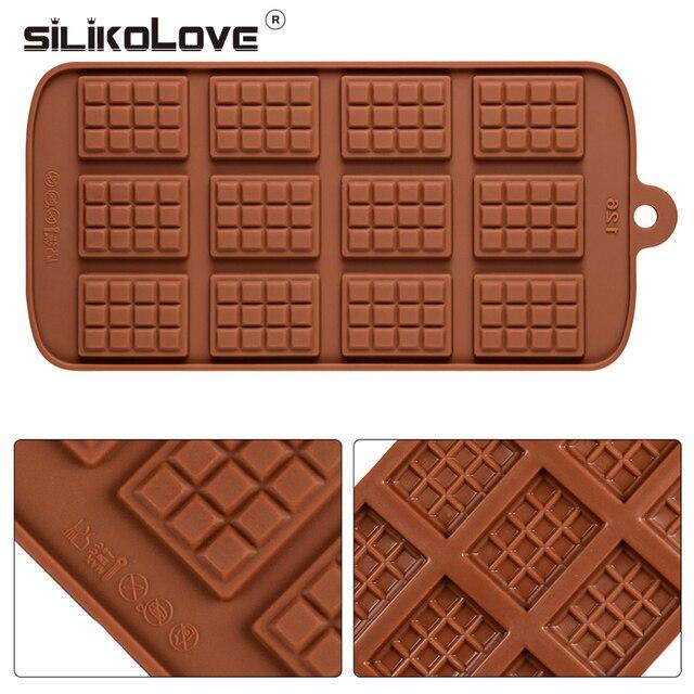 Silikolove Molde de Chocolate Fondant Ferramentas de Decoração Do Bolo Antiaderente Molde Jelly Pudim Moldes de Silicone para o Cozimento Cozinha