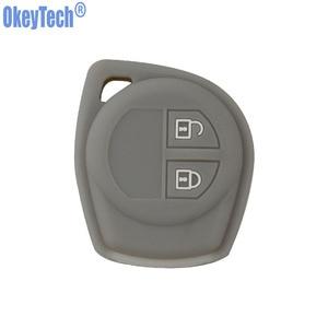 Image 5 - OkeyTech Silicone Rubber 2 Button Car Remote Key Fob Case Protect Cover For Suzuki SX4 Swift Vitara Key Shell Holder Accessories