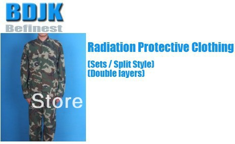 Radiation Protective Clothing Sets with Metal Fibrosis Conductive Fabric 2 Layers Protection Suit