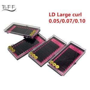 Image 1 - BFF Marka 4 kutu Kirpik uzatma 0.05/0.07/0.10 LD Büyük kıvırmak yapay Sahte Yanlış Göz Kirpik Bireysel kirpik