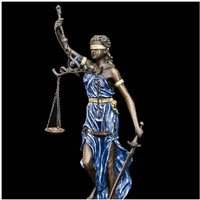 Handmade justice Small Lady Scales Justice Lawyer Themis Statue Bronze Sculptre Souvenirs lawyer copper Decoration real Brass