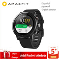 Versión Global Original Xiaomi Huami Amazfit Stratos 2 reloj inteligente deportivo GPS 5ATM agua 2.5D GPS Firstbeat natación Smartwatch