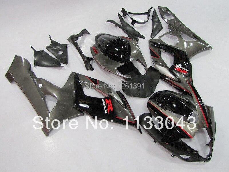 Литья под давлением обтекатель для SUZUKI GSXR1000 K5 05 06 серого и черного цветов, GSXR 1000 GSX-R1000 GSX R1000 K5 2005 2006 Прохладный кузов