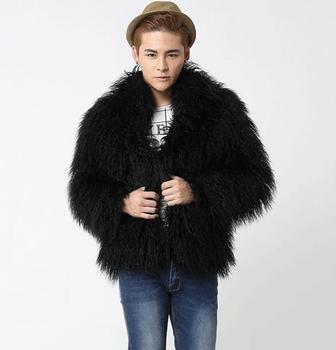 Male Mens Faux Fur Winter Warm Thicken Coats Outerwear Overcoat Jackets